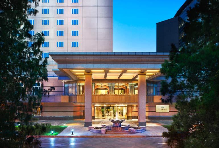 圖為北京瑞吉酒店外觀。(瑞吉酒店官方網站)