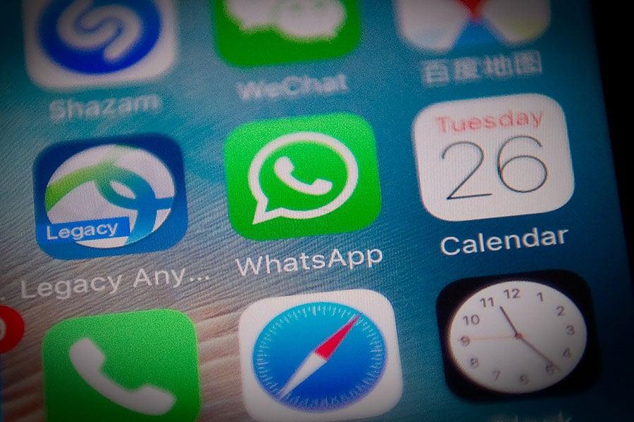 7月18日,WhatsApp服務在中國被完全中斷,第二天恢復部份服務。自此開始WhatsApp在中國大陸遭到間歇性封鎖。(NICOLAS ASFOURI/AFP/Getty Images)