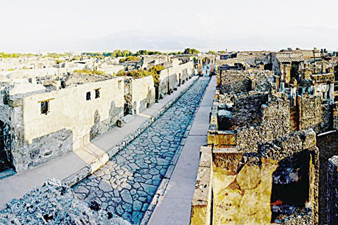 龐貝古城遺址。(大英博物館提供)