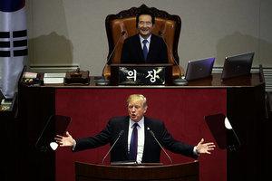 特朗普南韓會演講 喊話金正恩棄暗從明