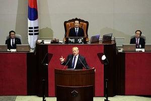 特朗普南韓會演說:譴責北韓殘暴