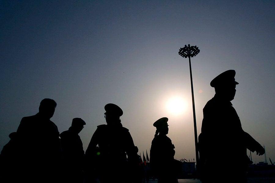 十九大後,中共政法高層出現大變動。隨著新一屆政法委高層調整,政法委高層中的江派勢力必將遭到深度清洗。(China Photos/Getty Images)