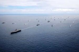 非比尋常 美將匯集三航母和七韓艦軍演