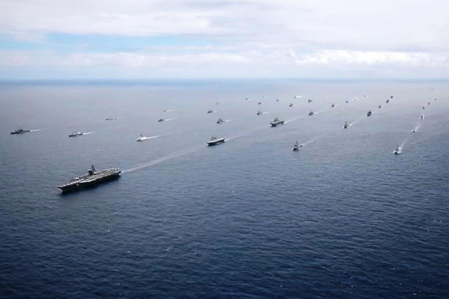 三大航母罕見齊聚太平洋  美軍公佈軍演四天