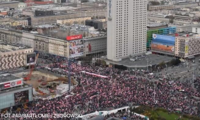 波蘭六萬人獨立日遊行 希望喚回傳統價值