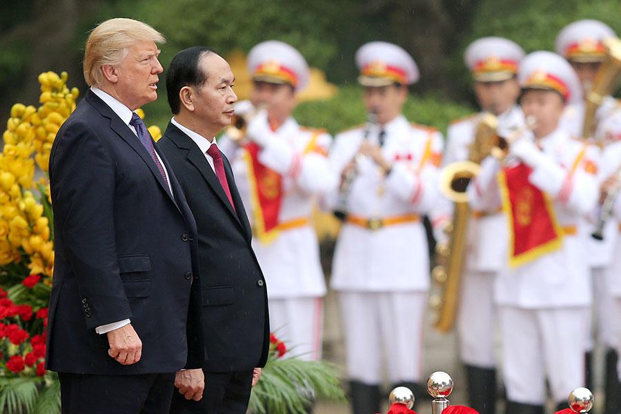 陳大光稱,特朗普的來訪是美越關係的一個里程碑。(LUONG THAI LINH/AFP/Getty Images)
