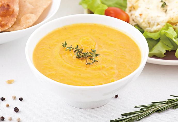 南瓜濃湯是大人、小孩的最愛。