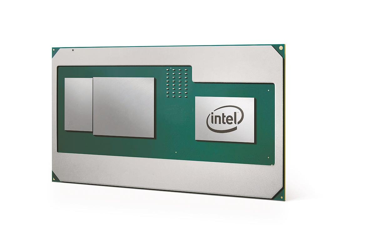 Intel第一個整合AMD GPU的Core H處理器。(Intel Newsroom)