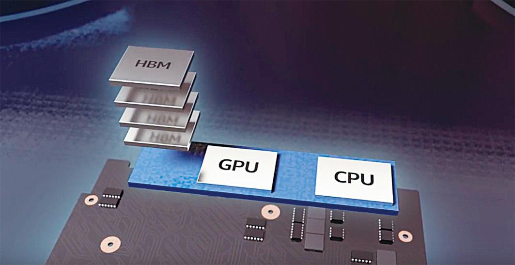 Intel與AMD攜手新設計的晶片組,能縮小原先GPU繪圖器所佔體積,讓配置高效能圖像處理器的筆電更輕薄。(Intel Newsroom)