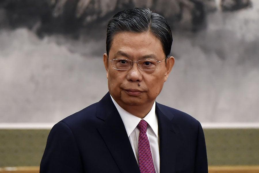 近三天,新任中紀委書記趙樂際三次「露面」,並就反腐放重話。(WANG ZHAO/AFP/Getty Images)