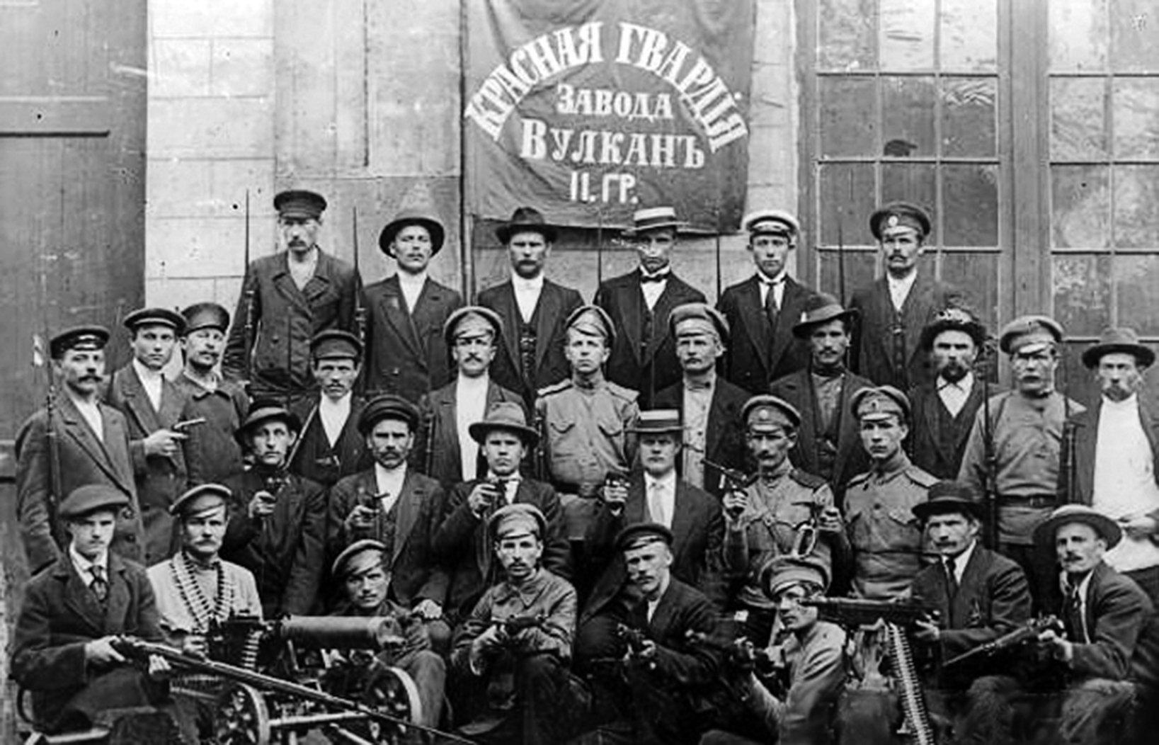 1917年伏爾加工廠的赤衛隊。