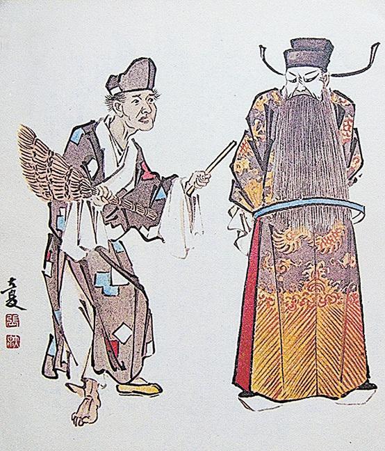 京劇畫家張大夏遺作《瘋僧掃秦》。(大紀元資料圖片)