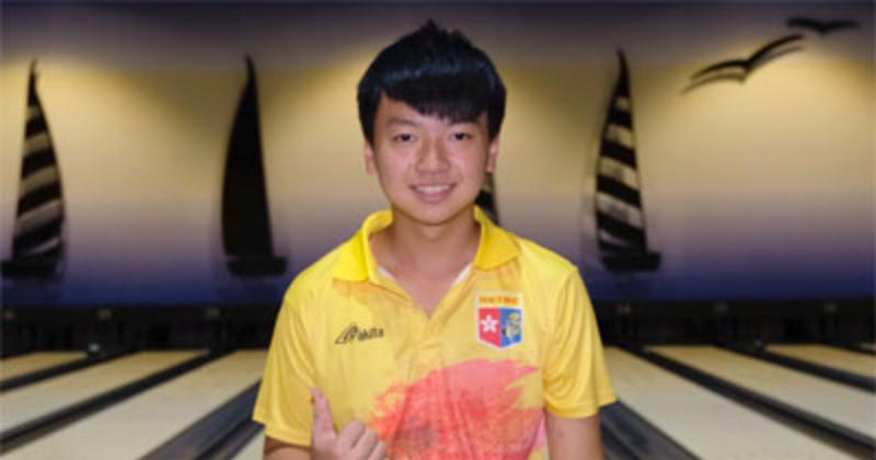 謝晉軒(圖)昨天單打賽事中以六局總分1405分奪得第一金。(Asian Bowling Federation)