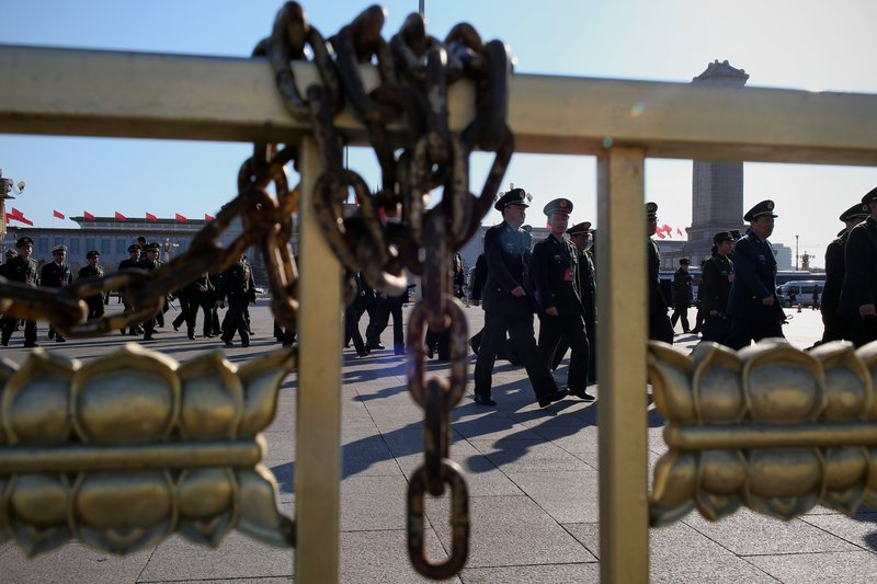 中共軍委印發文件規定軍級以上軍官待遇。(Feng Li/Getty Images)