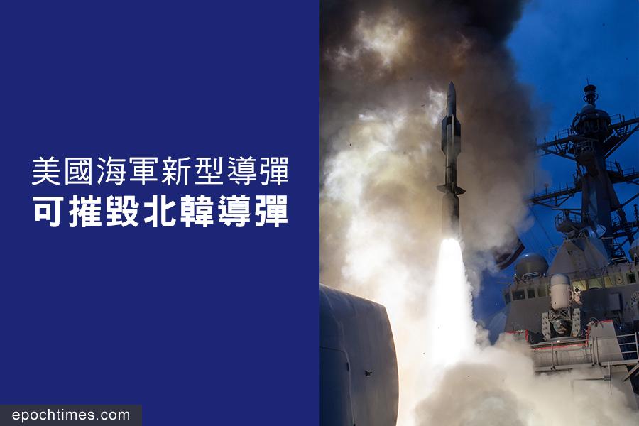 美國海軍進行了一系列成功的標準導彈-6(SM-6)型導彈測試。(AFP PHOTO/US NAVY/HANDOUT)