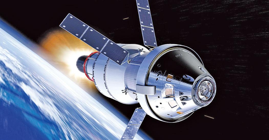 獵戶座(Orion)宇宙飛船。(NASA)