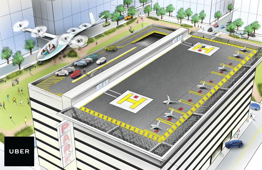 Uber與NASA合作開發 飛行汽車交通系統