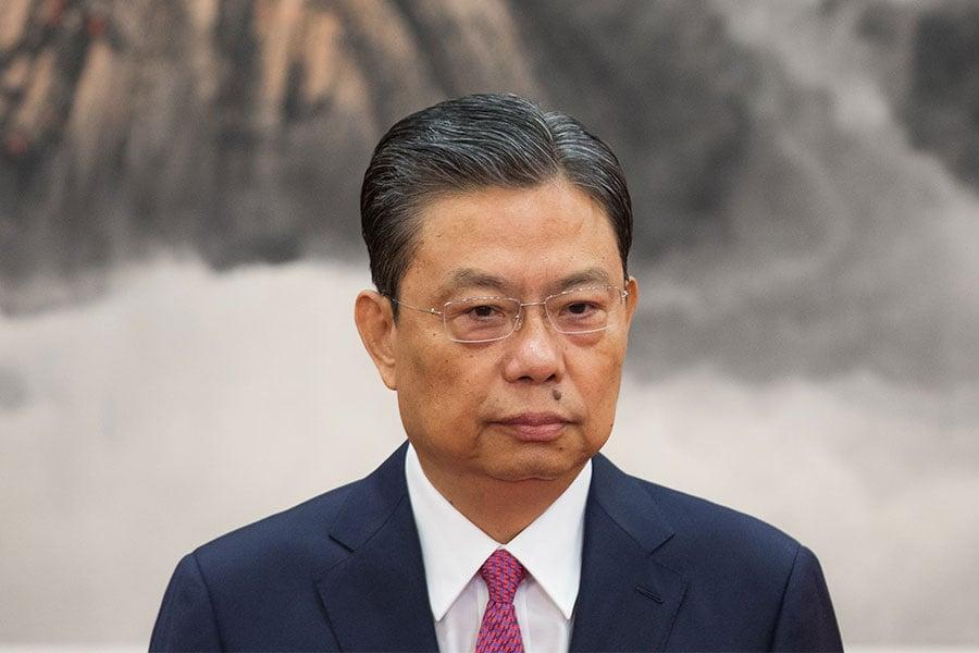 趙樂際在中共十九大上任至今20天的時間內,處理了30名省管以上官員。(Lintao Zhang/Getty Images)