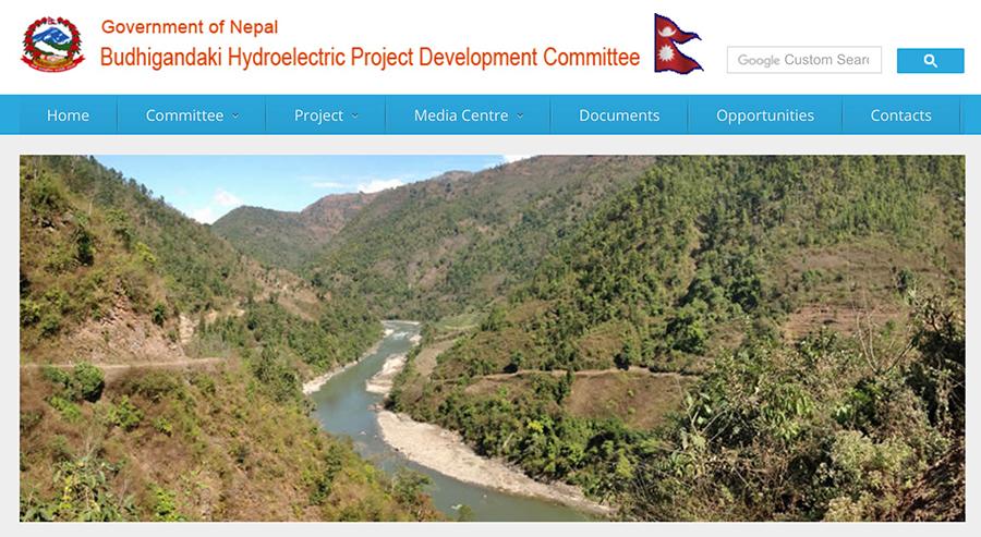 尼方決定撤銷此前與中國葛洲壩集團合作的布達甘達基水電站項目。(尼泊爾政府布達甘達基項目官網擷圖)