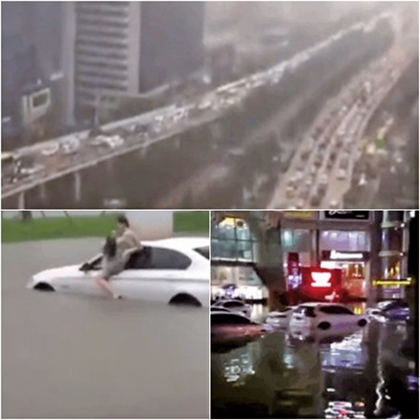 海口遭遇二十年來最強暴雨 全市一片汪洋