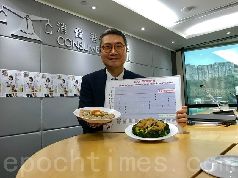 消委會發現,多款受港人喜愛的小菜屬有「高鹽高脂」問題。(王文君/大紀元)
