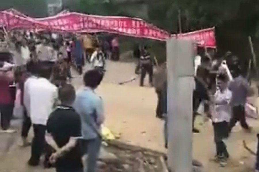 廣西李黎兩姓數千村民械鬥 上千警持槍鎮壓