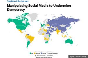 全球網絡自由報告 中國大陸連續三年墊底