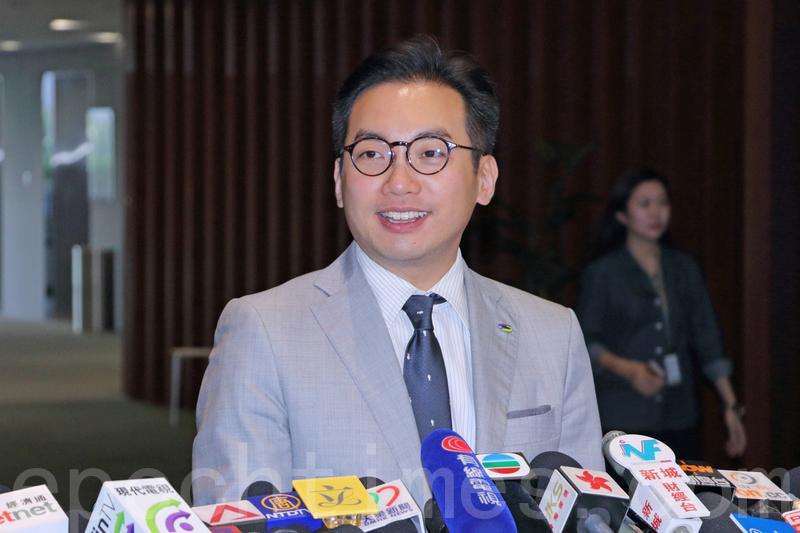 楊岳橋認為目前香港為23條立法的必要性不大,並強調民主派在未有政改、未有普選之前會盡最大努力阻止23條立法。(蔡雯文/大紀元)