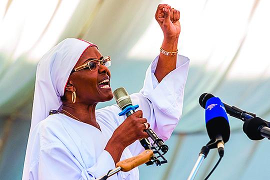 人們在親中共的格雷斯.穆加貝身上看到了被稱「紅都女皇」的江青的影子。(AFP)