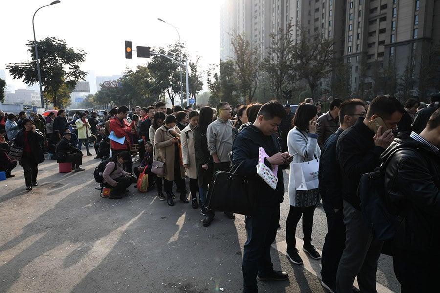 北京首個限價樓盤上市 兩小時賣光