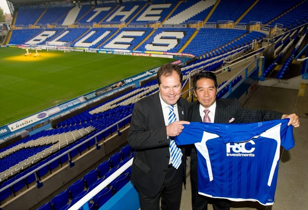 香港富商楊家誠2009年出資1.51億英鎊收購伯明翰足球會94%股份,2011年夏天,他因洗黑錢罪成被判入獄6年。(AFP)