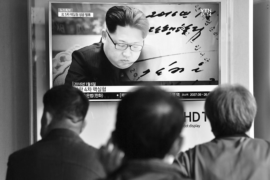 金正恩最近好象老實多了。圖為金正恩資料圖片。(JUNG YEON-JE/AFP/Getty Images)