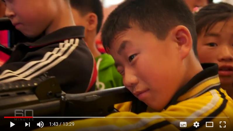 澳洲媒體報道說,北韓當局在夏令營的電子遊戲中教導兒童如何殺美國人。(視像擷圖)