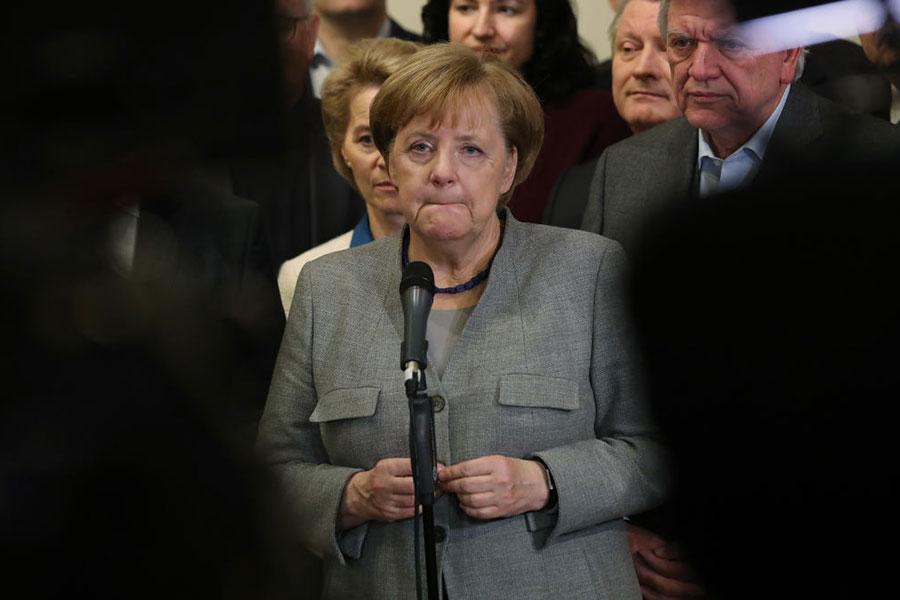 經過四個星期的努力,默克爾組成政府的嘗試宣告失敗。(Sean Gallup/Getty Images)