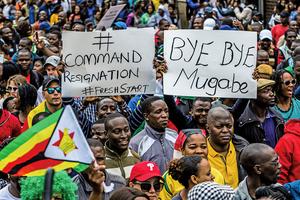 津巴布韋總統穆加貝同意辭職下台
