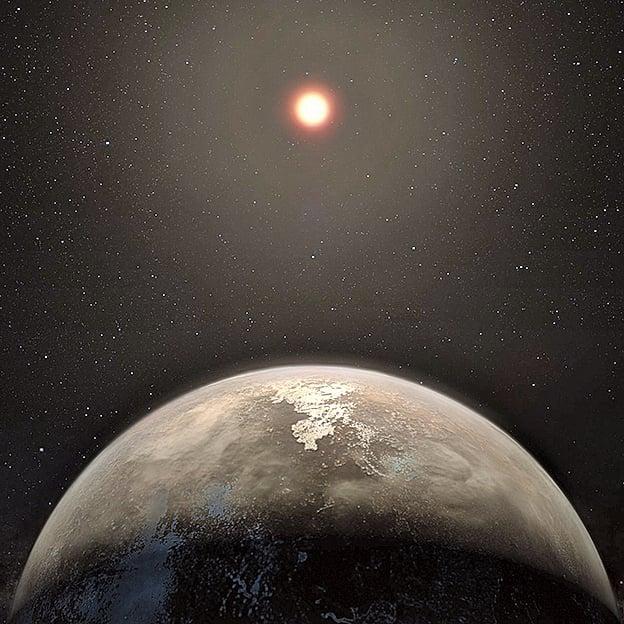 天文學家發現一個很酷的、地球大小的行星,且距離我們的太陽系較近。這個行星的特性使其成為科學家尋找外星生命的主要目標。(歐洲南方天文台)