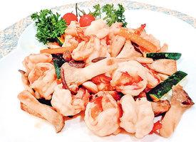 【梁廚美食】雞腿菇炒蝦球