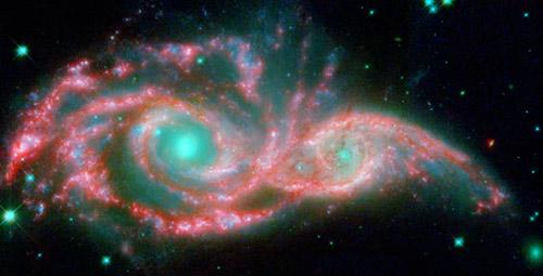 宇宙充滿神奇,地球的起源也是科學之謎。圖為深太空的星系景象。(NASA, ESA/JPL-Caltech/STScI/D. Elmegreen (Vassar).)