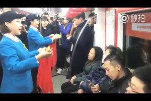天津地鐵內「宣傳十九大」遭網民嘲諷