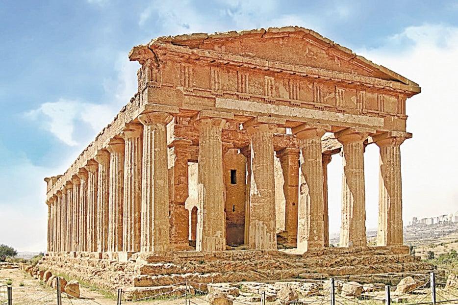 位於神殿之谷的康科迪亞神廟 (Temple of Concordia)。(shutterstock)