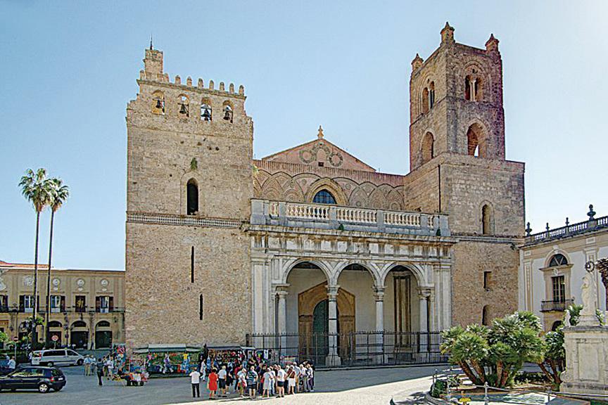 蒙雷阿萊主教座堂(Cattedrale di Santa Maria Nuova,又稱新聖母主教座堂)。(維基百科)