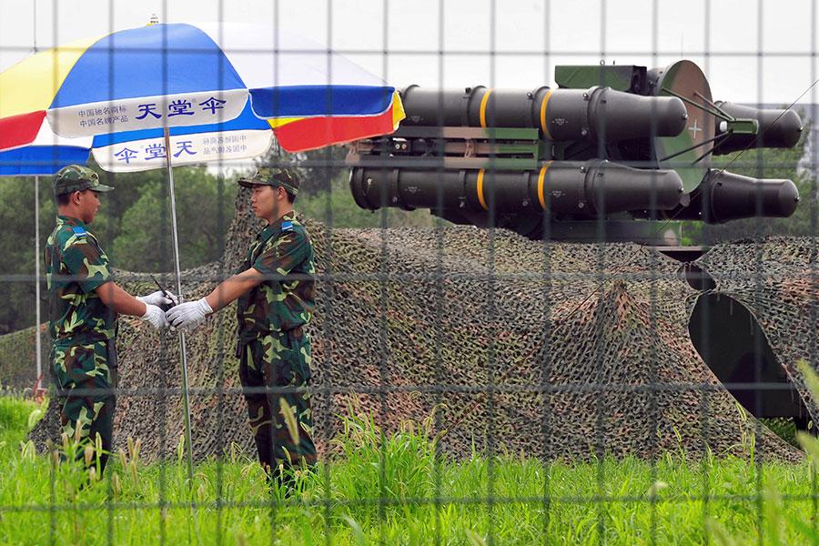 圖為中國的一個地對空導彈基地。(TEH ENG KOON/AFP/Getty Images)