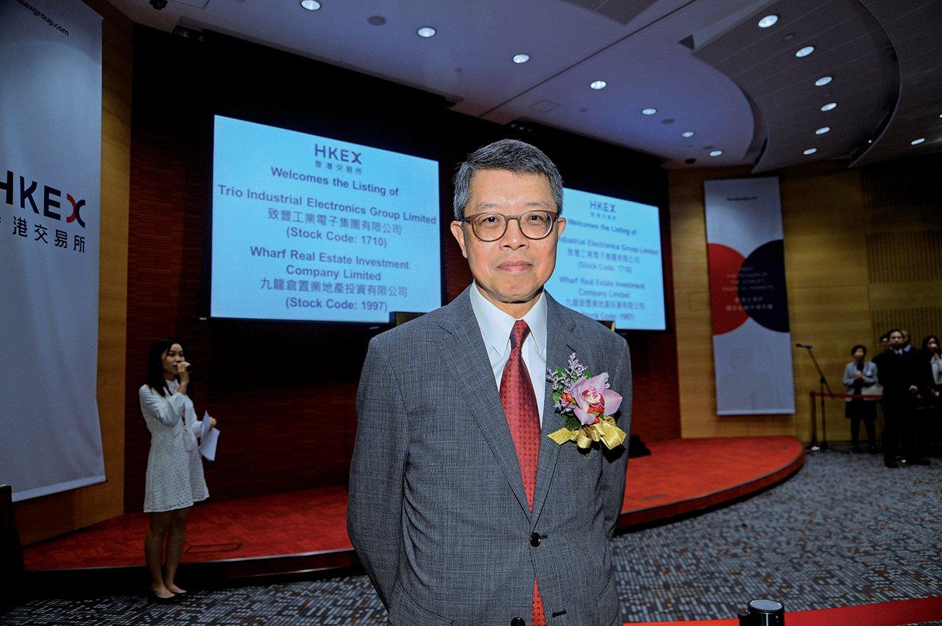 九倉主席吳天海重申是次分拆是讓市場有多個投資選擇。(宋碧龍/大紀元)