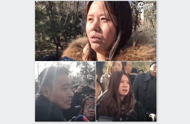 北京紅黃藍幼兒園三位涉事家長向媒體曝光孩子被虐待、猥褻的真相。(視像擷圖)