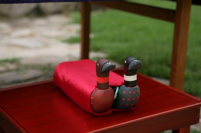 新郎親往女家迎親的儀式,會獻雁為贄禮,稱為「奠雁」。(Rystheguy/WIKIMEDIA COMMONS CC BY-SA 3.0)