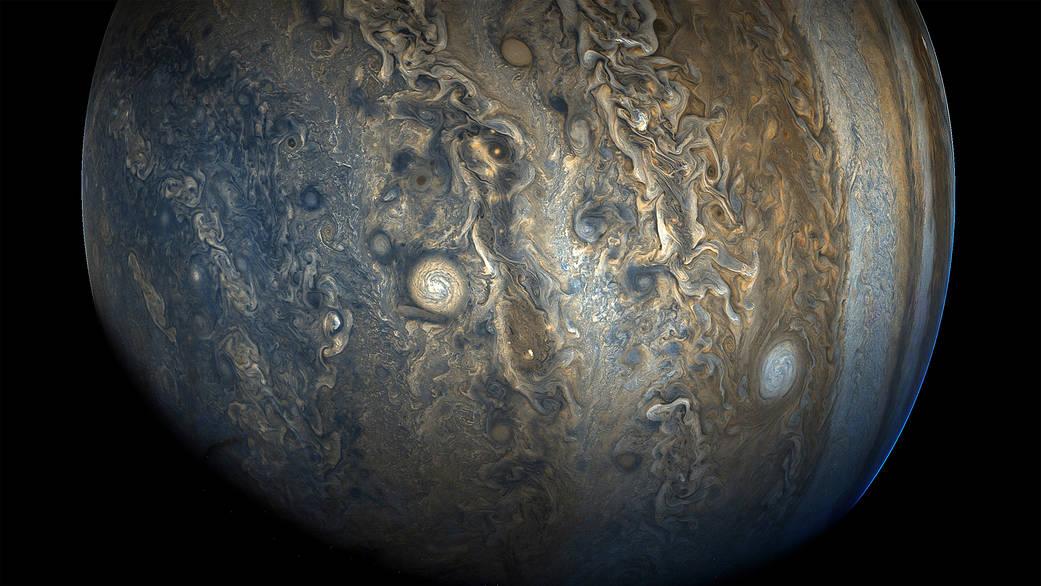 「珍珠」風暴會組成令人驚歎的「珍珠串」。(NASA)