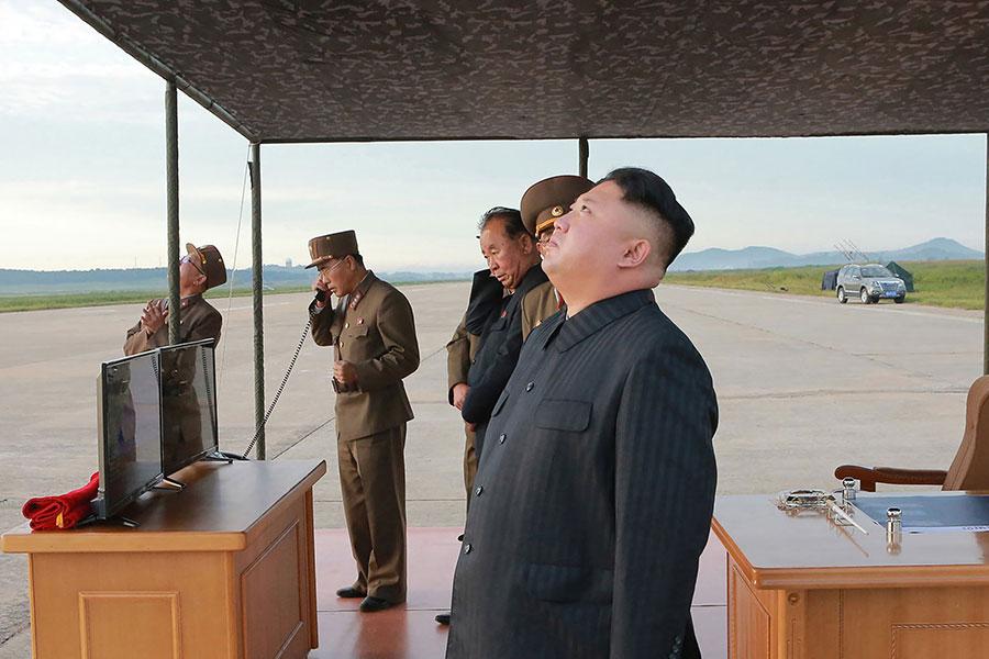 平壤金氏政權同中共江澤民集團關係密切。(STR/AFP/Getty Images)