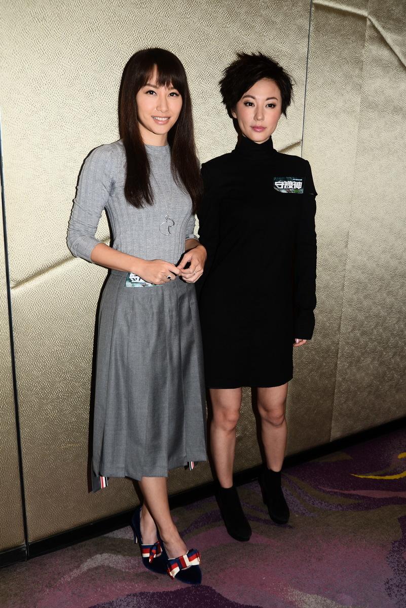 徐子珊(左)新劇經常被打,劉心悠布拉格拍外景遇超強颱風。(宋碧龍/大紀元)