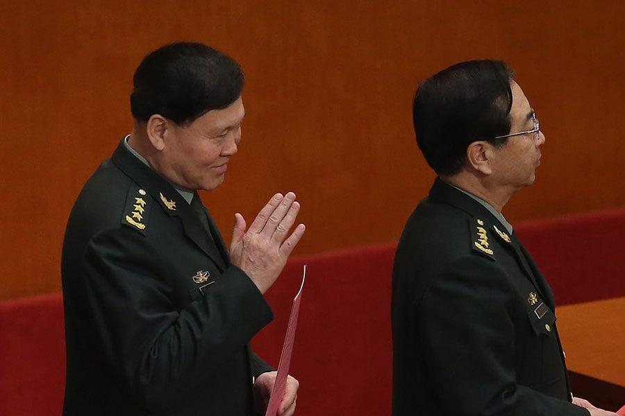 張陽(左)3個月前已被調查,近日自殺。(Feng Li/Getty Images)