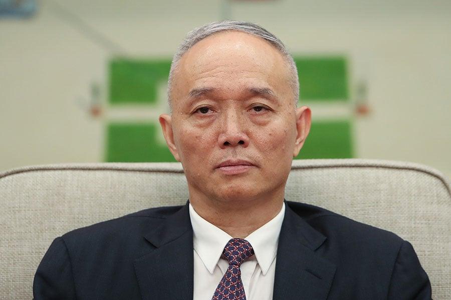 圖為北京市委書記蔡奇。(Lintao Zhang/Getty Images)